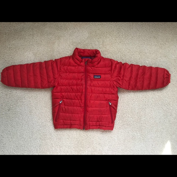 Patagonia Jackets Coats Down Sweater Jacket Coat 3t Red Poshmark